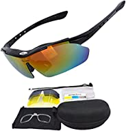 Polarized Sports Sunglasses,Cycling Glasses ,Motorcycle Goggles for Mens Womens Running Fishing Golf Driving S
