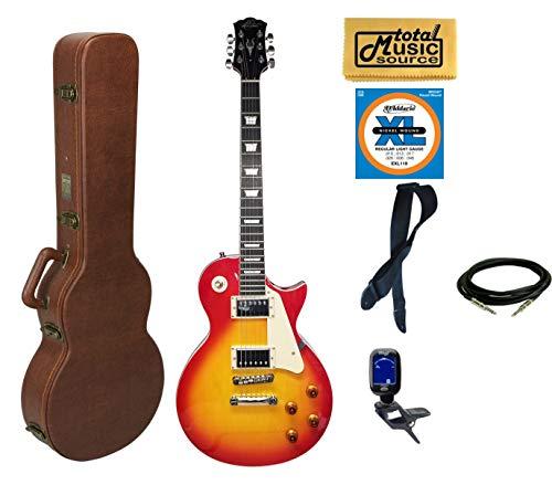 Oscar Schmidt OE20CS LP Style Electric Guitar Cali Bundle - Cherry Sunburst ()