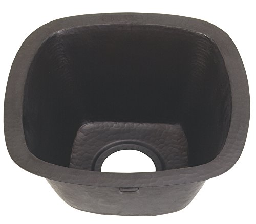 Belle Foret Bfc5bar Square Copper Self Rimming Or Undermount Kitchen Sink Shown In Oil Rubbed Bronze