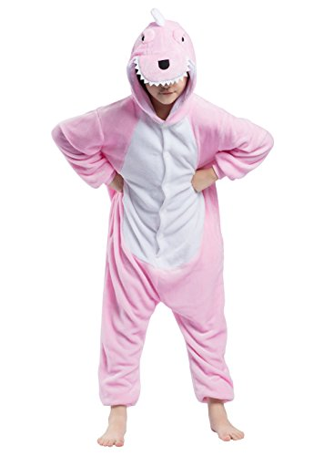 Unisex per Bambini Pigiama Animale Cosplay Dinosauro Rosa