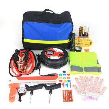 Car Emergency Kit - Car Roadside Emergency Kit - Roadside Emergency Kit Portable Auto Car Bag Piece Vehicle Safety (Road Emergency Car Kit) ()