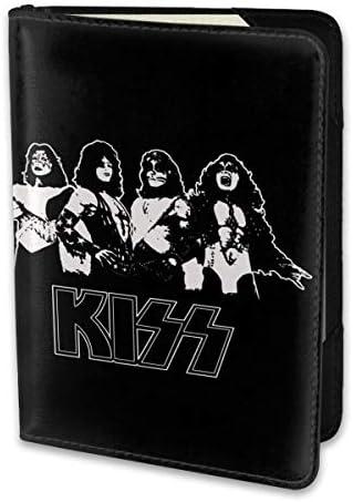 Kiss Band キスバンド パスポートケース メンズ 男女兼用 パスポートカバー パスポート用カバー パスポートバッグ 小型 携帯便利 シンプル ポーチ 5.5インチ高級PUレザー 家族 国内海外旅行用品