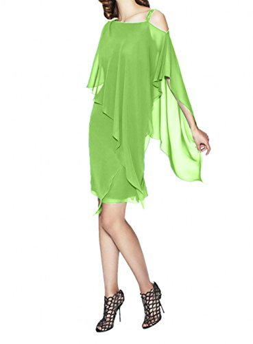 Blau La Chiffon Partykleider Stola Abendkleider Festlich Brautmutterkleider Gruen Marie mit Apfel Braut xgqCTw4g