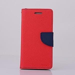 WQQ doble color en el interior y el exterior de cuero de la PU caso de cuerpo completo para iPhone 6 Plus (color clasificado) , Dark Blue