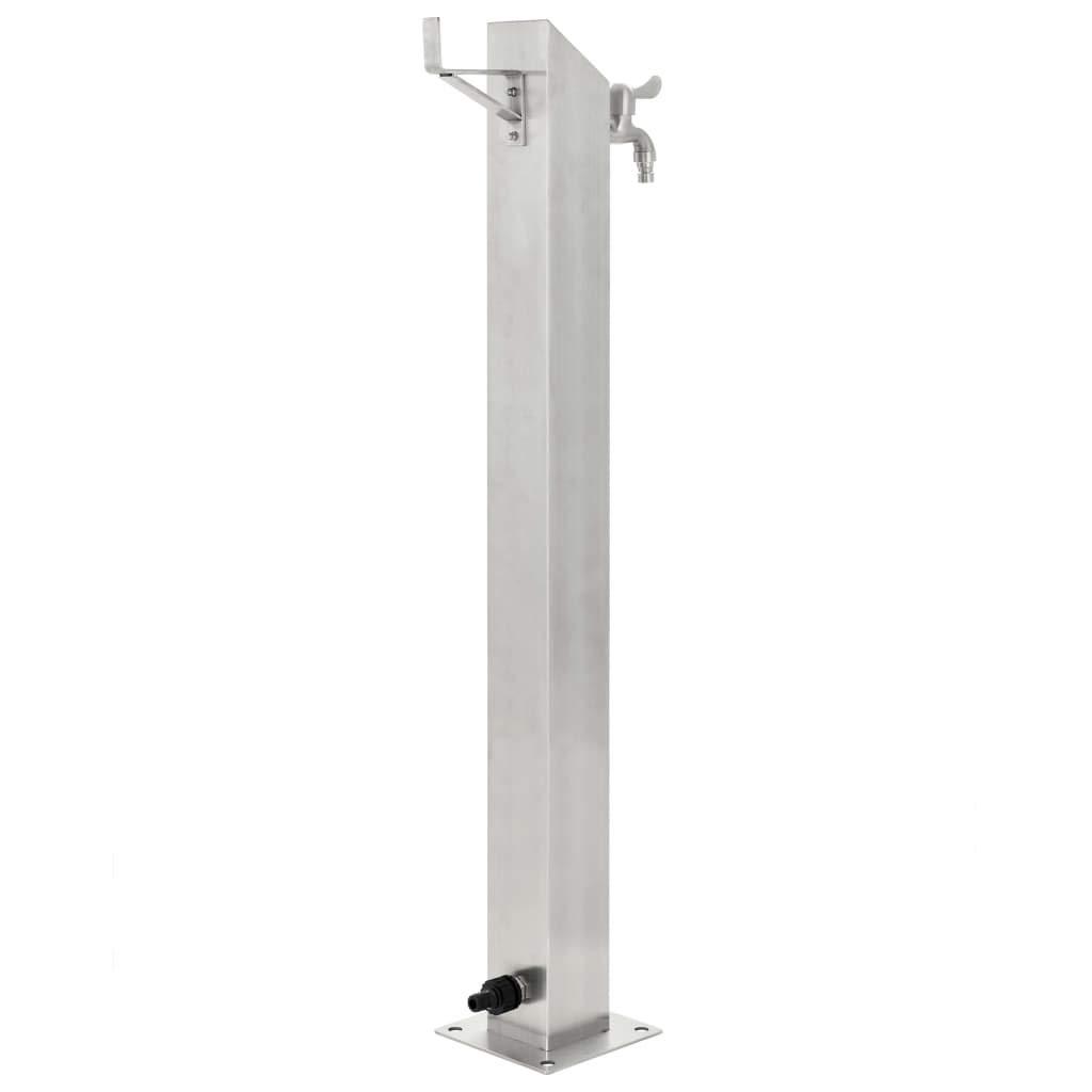 vidaXL Columna Agua para Jard/ín Acero Inoxidable Cuadrada 95 cm Fuente Patio