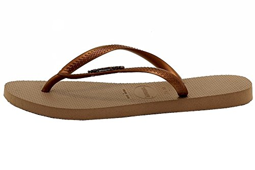 Flip Rose Copper Logo Gold Havaianas Metallic Women's Flop Slim Dark SqwFxAP