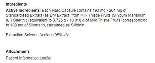 Thisilyn Maximum Strength Milk Thistle Capsules 30 Capsules - 6 Pack