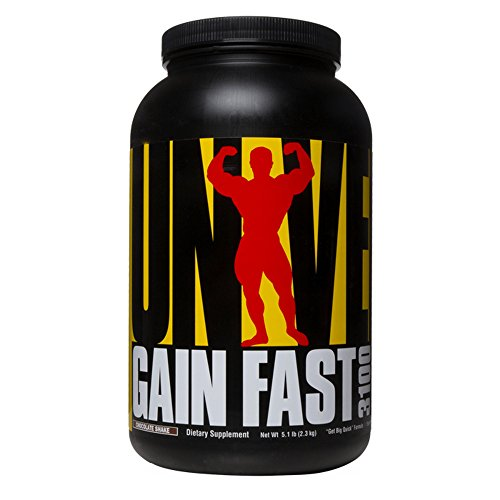 Universal Nutrition System Gain Fast 3100, Chocolate Shake, 5.1-Pound Jar