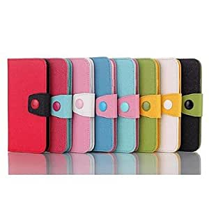 TOPQQ Color Matching Pattern Wallet Leather Case for iPhone 6(Assorted Colors) , Black