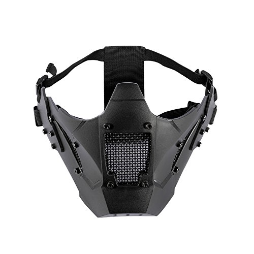 OneTigris Airsoft Steel Mesh Mask Lower Face ZM07 (Black)