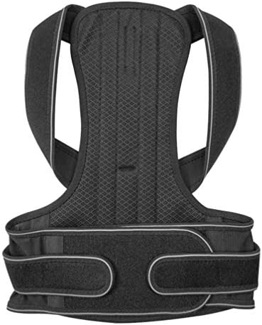Milisten Haltungskorrekturgürtel Verstellbare Obere Rückenstütze Buckelkorrekturstütze für Männer Frauen Kinder Größe Xxl (Schwarz)