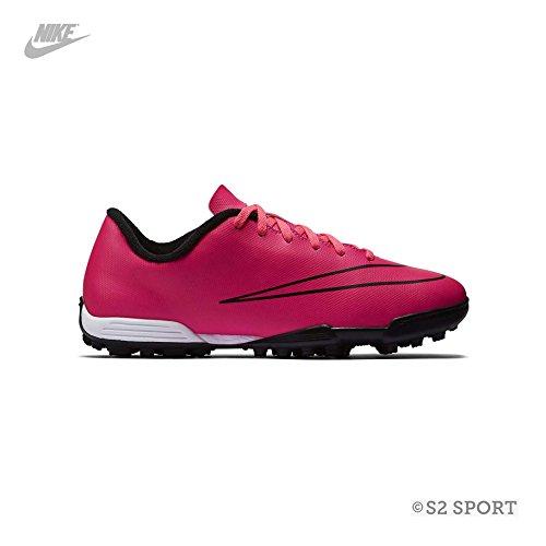 Nike Jr Mercurial Vortex II TF, Niños Botas de fútbol negro / rosa