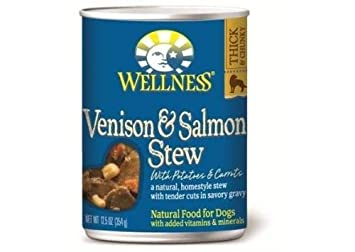 Venison and Salmon Stew Dog Food 12.50 Ounces Case of 12