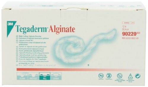 3M 90220 Tegaderm High Gelling Alginate Dressing, Pack of 5 - Wound Care Dressing 12 Rope Inch