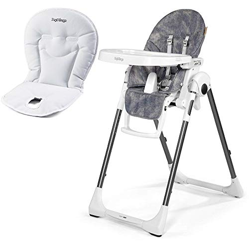 Peg Perego Prima Pappa Zero 3 High Chair, Denim with Booster
