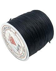 60m / rulle Profilering Thread smycken Making Elastisk smycketråd DIY Tråd för armband armband halsband Ankelkedja, Black
