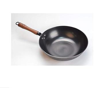 irugh Antigua de hierro fundido hierro fundido de olla inoxidable en verdadero pan sin revestimiento antiadherente olla Gas estufa de inducción cocina ...