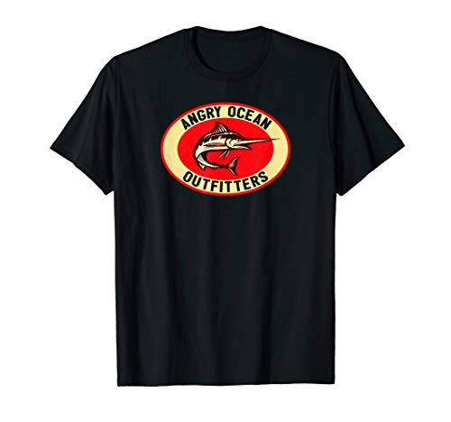 Angry Ocean Outfitters Marlin Deep Sea Fishing T-Shirt
