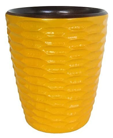 Enrico 3140MH2080 Mango Wood Honeycomb Utensil Vase, Sunflower by Enrico