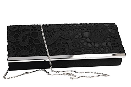 VN2298 black ceremony opening bag woman SISSI Clutch elegant button Cq1vZwx4B