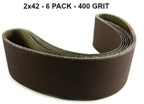 2x42 - 400 Grit 6 Pack - Premium Silicon Carbide Knife Sh...