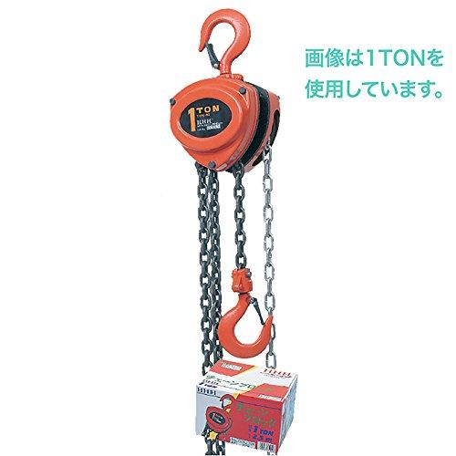 チェーンブロック 型式 R-CB 5TON 揚量 5 ton 標準揚程 3 m スリーエッチ HHH H B07115M5XP