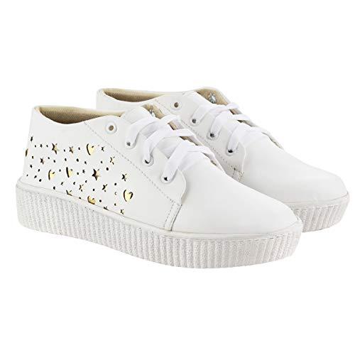ABJ Fashion White Sneaker for Women
