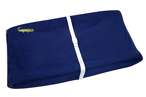 NoJo Alligator Blues Contoured Changing Table Cover by NoJo