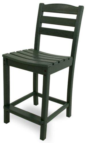 POLYWOOD TD101GR La Casa Café Counter Side Chair, Green