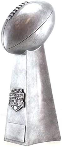 personalisierte Gravurplatte inklusive Perfect League Troph/äe 30,5 cm hoch FFL Award handbemaltes Design Decade Awards Fu/ßball-Champion Silver Tower Troph/äe