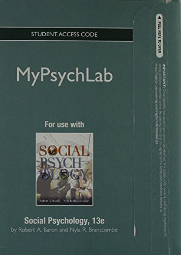 NEW MyPsychLab without Pearson eText -- Standalone Acces Card -- for Social Psychology (13th Edition)