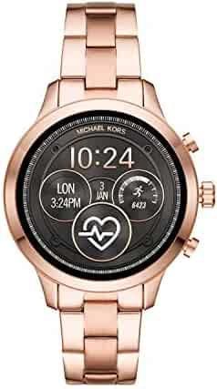 Michael Kors Access  Runway Stainless Steel Smartwatch, Color: Rose Gold Tone (Model: MKT5046)