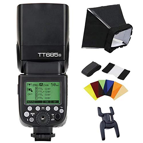 Godox TT685S TTL Camera Flash High Speed 1/8000s GN60 Flash Speedlite Compatible for Sony DSLR Cameras