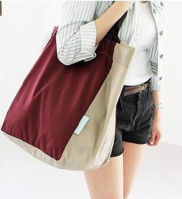 Lightweight Foldable Beach Tote Bag Travel Toy Bag Large Grocery & Picnic Reusable Shopping Shoulder Handbag by Chihom (Image #7)