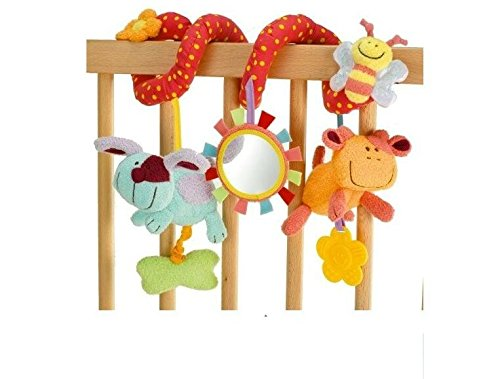 EEvER Lovely Learning Activity Toy Baby Activity Spiral Bed & Stroller Toy With Teether (Multicolor)