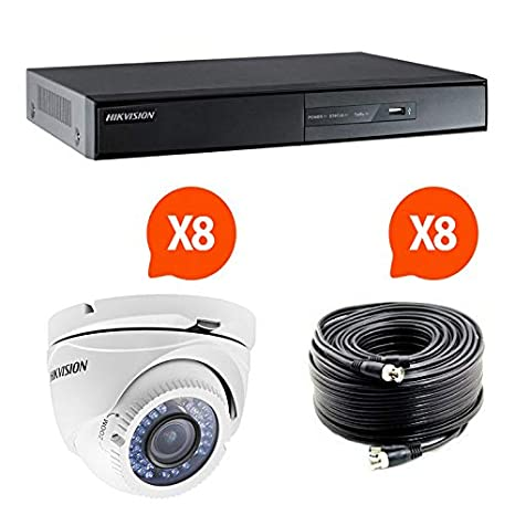 SecuriteGOODdeal-Equipo de videovigilancia compuesto por 8 cámaras HD Hikvision Turbo: Amazon.es: Hogar