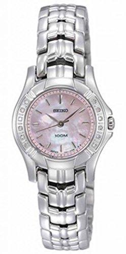 Seiko Women's SXGN49 Diamond Silver-Tone Watch