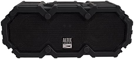 Altec Lansing IMW577-BLK Lifejacket 2 Bluetooth Speaker, IP67 Waterproof, Shockproof, Snowproof, Every little thing-Proof Ranking, 30-Foot Vary, 16 Hours Of Battery Life, Black