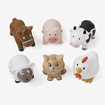 Elegant Baby Barnyard Party Squirtie Baby Bath Toys: Toys & Games