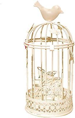 Hosaire 1X Candelabros Hueco Jaula de pájaros Mariposa Arte de ...