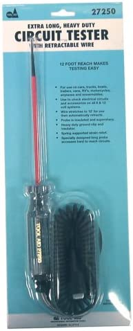 Tool Aid SG 27250 Circuit Tester with 6-1//2 Long Probe and Retractable Wire