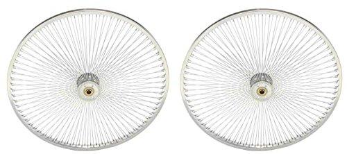"""Lowrider Two Chrome 26"""" 144 Spoke Hollow Hub Wheels for Trike."""