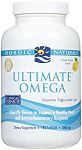 Nordic Naturals - Ultimate Omega, Support for a Healthy Heart, 180 Soft Gels 1000 mg