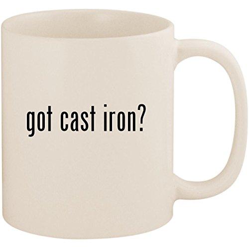 got cast iron? - 11oz Ceramic White Coffee Mug Cup, White