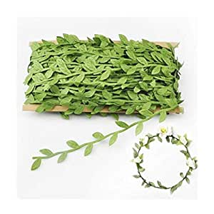 Artificial Vines,Fake Hanging Plants Silk Ivy Garlands Simulation Foliage Rattan Green Leaves Ribbon Wreath Accessory Wedding Wall Crafts Party Decor