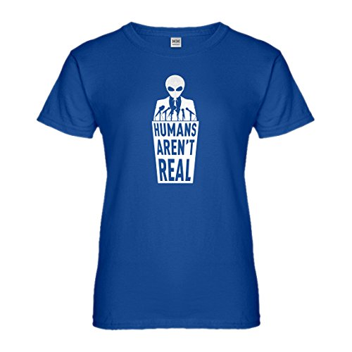 - Womens Humans aren't Real XX-Large Royal Blue T-Shirt