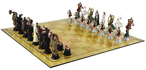 Lord of the Rings 3D Chess Set Game - Licensed Characters