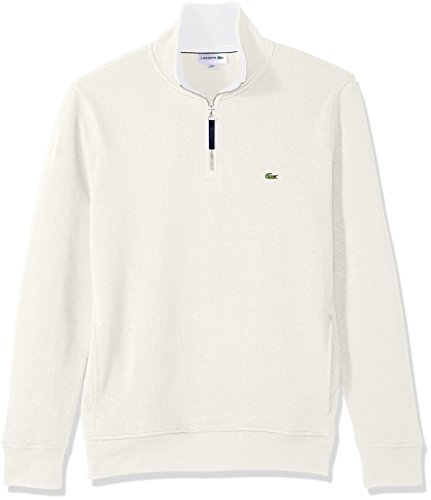 ae25c621 Lacoste Men's Long Sleeve 1/4 Zip Interlock Cotele Sweatshirt ...