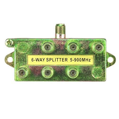 Skywalker Signature Series Splitter 5-900MHz, 6-Way 900 Mhz Signal Splitter