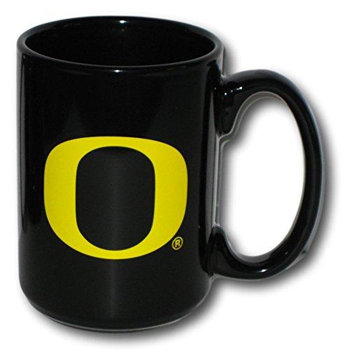 (Oregon Ducks 15 oz. Rally Black Ceramic Coffee Mug)